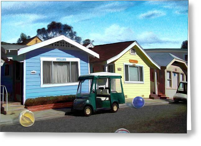 Houses In A Row Greeting Card by Snake Jagger