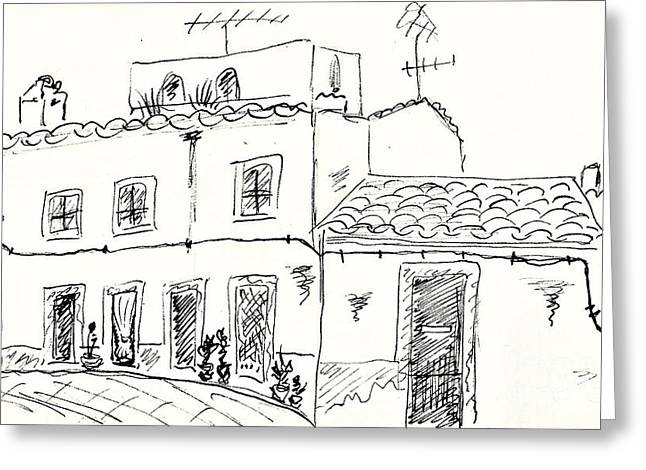 Houses In Elvas Greeting Card by Chani Demuijlder