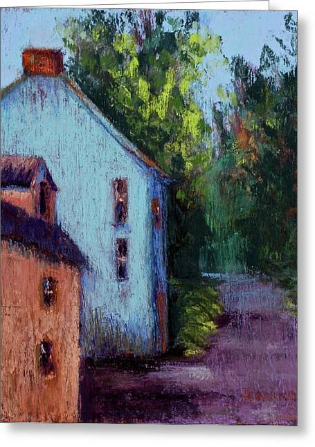 Old Roadway Pastels Greeting Cards - Houses in  Ireland Greeting Card by Joyce A Guariglia