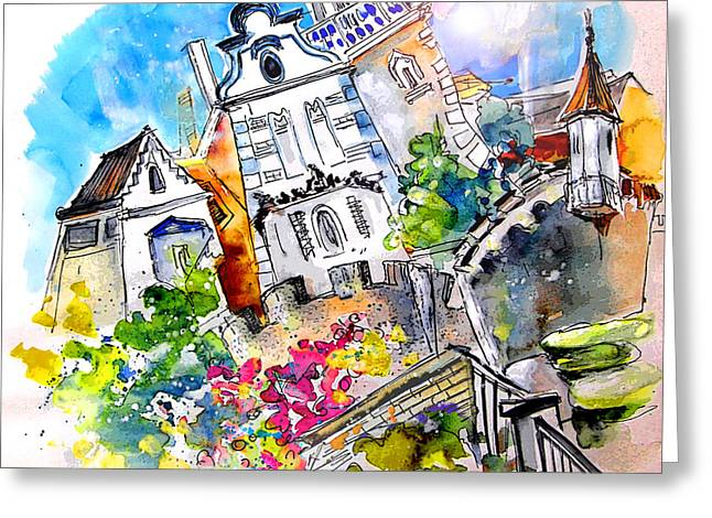 Portugal Art Greeting Cards - Houses in Ponte de Lima Greeting Card by Miki De Goodaboom