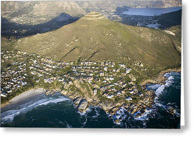 Cape Town Greeting Cards - Housing Developments South Of Cape Town Greeting Card by Michael Fay