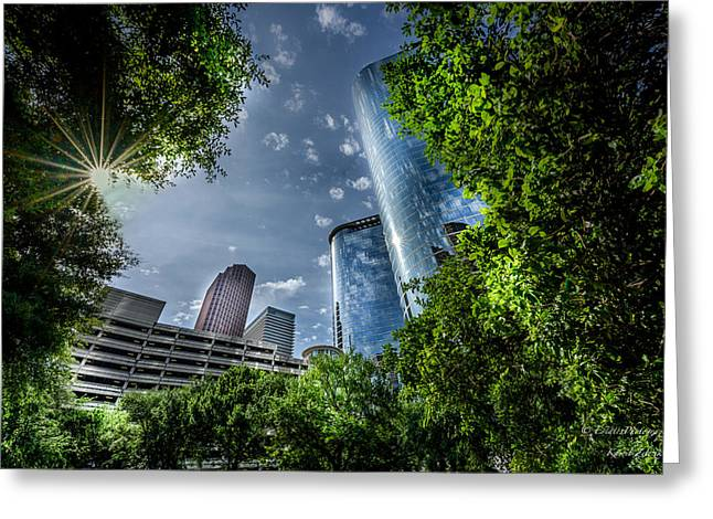 Dynamos Greeting Cards - Houston Downtown 10 Greeting Card by Kamil Zelezik