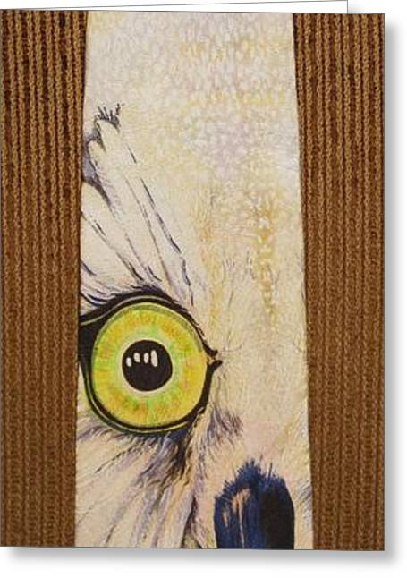 Best Sellers -  - White Tapestries - Textiles Greeting Cards - Houston Mascot Greeting Card by David Kelly