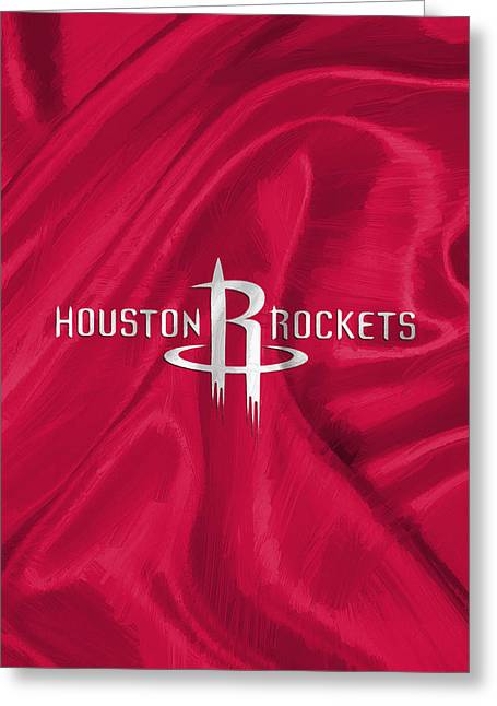 Houston Rockets Greeting Card by Afterdarkness