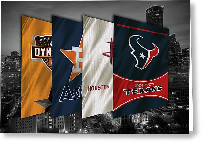 Houston Sports Teams 2 Greeting Card by Joe Hamilton