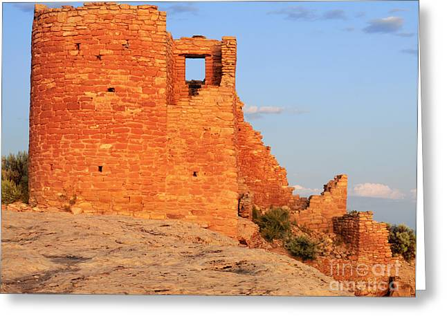 North Country Trail Greeting Cards - Hovenweep National Monument Greeting Card by Dennis Flaherty