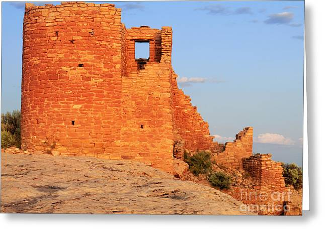 The Plateaus Greeting Cards - Hovenweep National Monument Greeting Card by Dennis Flaherty