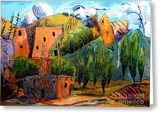 Charlie Spear Greeting Cards - Hovenweep The Penthouse  Greeting Card by Charlie Spear