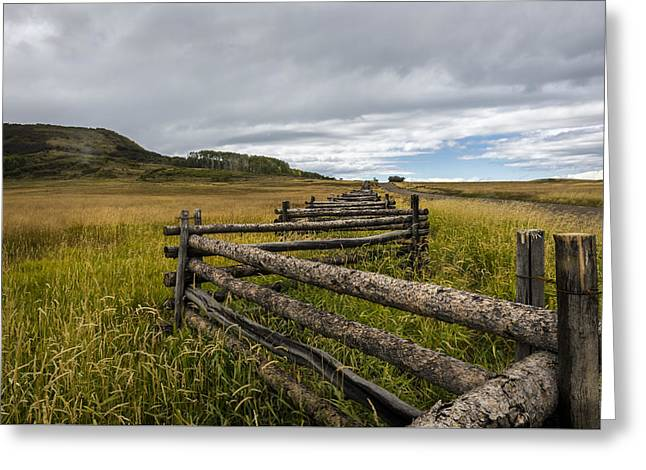 How Fences Are Made Greeting Card by Jon Glaser