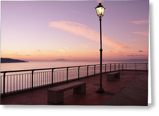 Amalfi Sunset Greeting Cards - How is this real Greeting Card by Alexandra Stuart