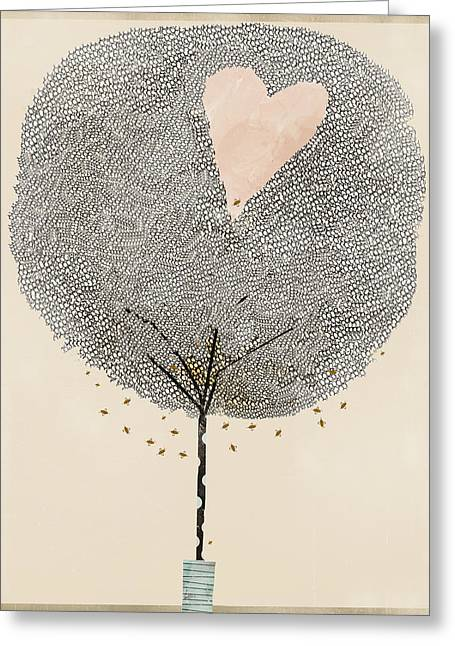 Tress Greeting Cards - How Love Grows Greeting Card by Bri Buckley