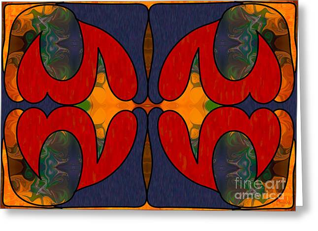 How Sweet It Is Abstract Art By Omashte Greeting Card by Omaste Witkowski