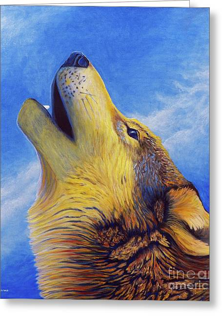 Coyote Greeting Cards - Howl Greeting Card by Brian  Commerford