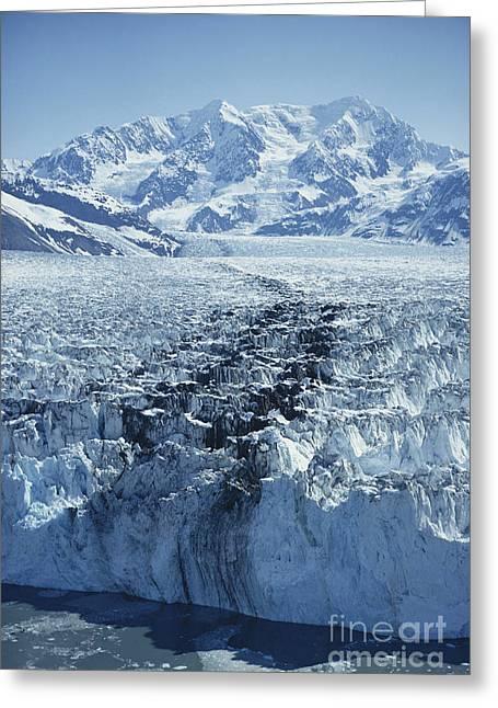 Crevasses Greeting Cards - Hubbard Glacier Greeting Card by Joseph Rychetnik