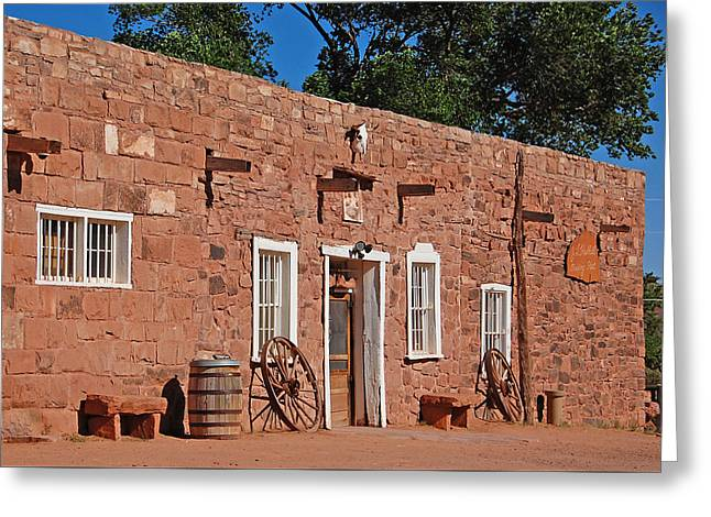 Hubbell Trading Post Greeting Card by Ben Prepelka