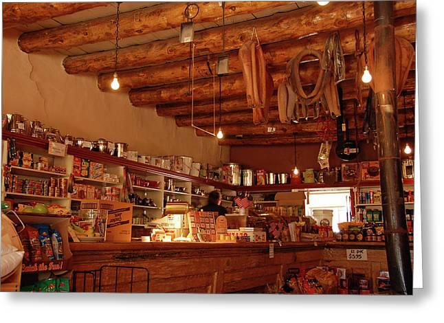 Hubbell Trading Post Interior Greeting Card by Ben Prepelka