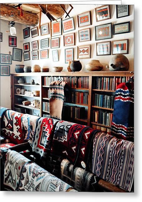 Hubbell Trading Post Navajo Rug Room Greeting Card by Kyle Hanson