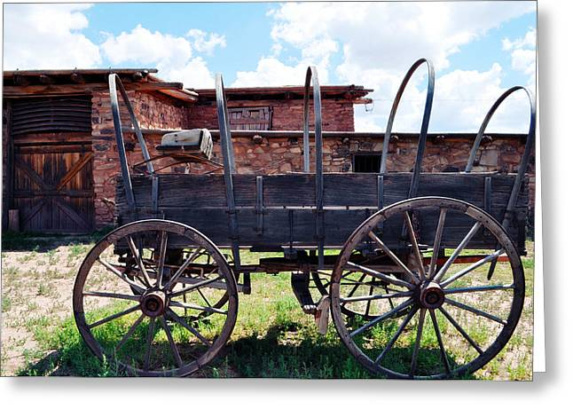 Hubbell Trading Post Stagecoach Greeting Card by Kyle Hanson