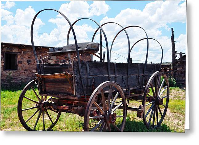 Hubbell Trading Post Stagecoach Landscape Greeting Card by Kyle Hanson