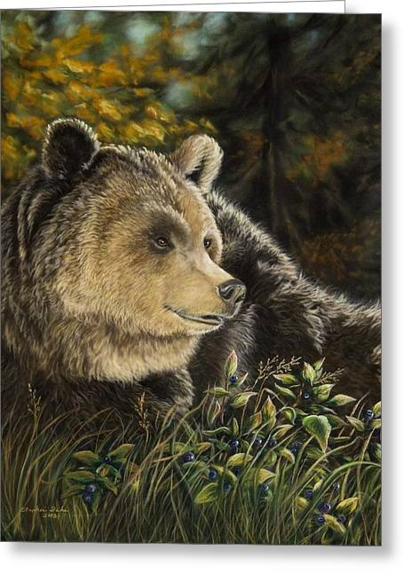 Bear Pastels Greeting Cards - Hucklebeary Greeting Card by Stephanie Funke- Sweeten