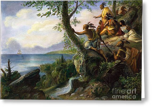 Half Moon Bay Greeting Cards - Hudson: New York, 1609 Greeting Card by Granger