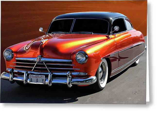 Cruisin For A Cure Greeting Cards - Hudson Sled Greeting Card by Bill Dutting