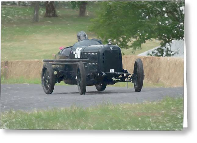 Hudson Super 6 Indy Replica Greeting Card by Adrian Beese