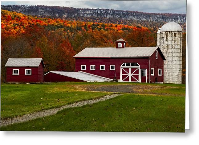 Hudson Valley Ny Countryside Greeting Card by Susan Candelario