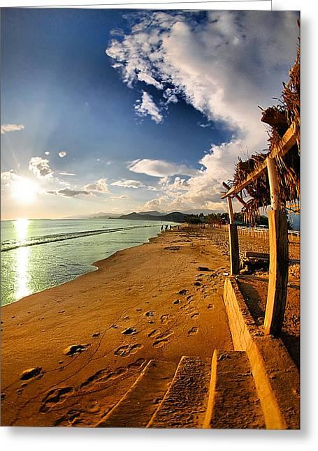 Himmel Greeting Cards - Huequito beach Greeting Card by Riccardo Zullian