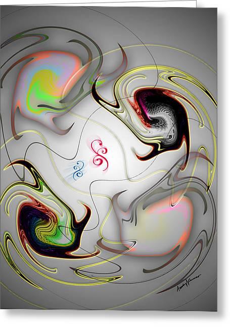 Abstract Digital Digital Greeting Cards - Huevos Ranchero Greeting Card by Anthony Caruso