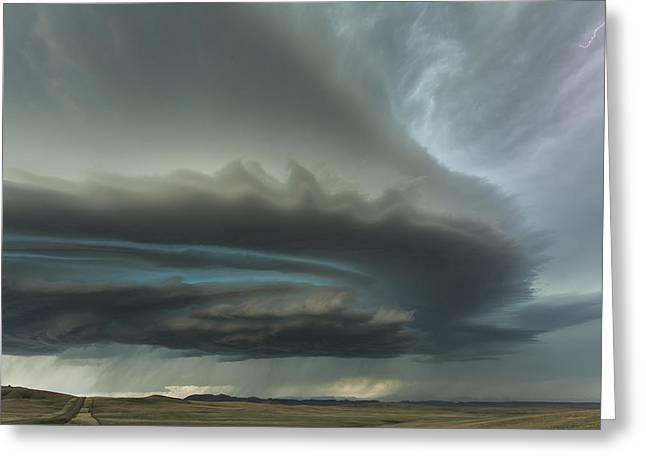 Thunderstorm Greeting Cards - Huge Supercell Greeting Card by Guy Prince