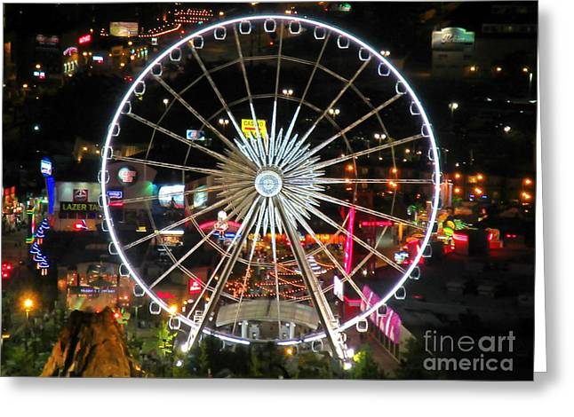 View Sculptures Greeting Cards - Hugh Ferris Wheel Greeting Card by John Malone