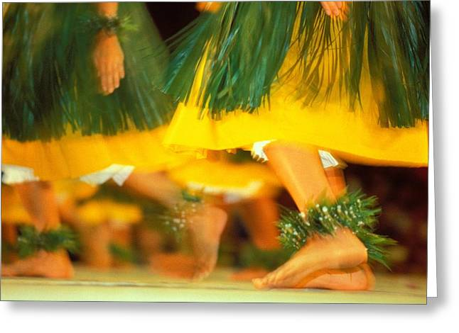 Ankle Greeting Cards - Hula Festival Greeting Card by William Waterfall - Printscapes
