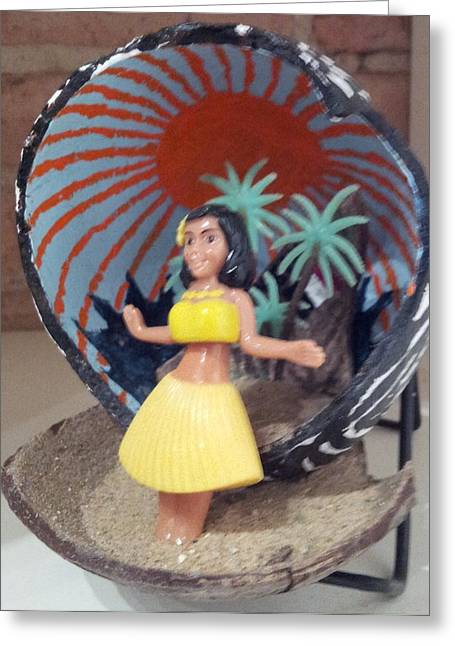 Desert Sculptures Greeting Cards - Hula girl Greeting Card by William Douglas