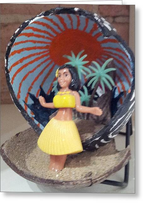 Western Sculptures Greeting Cards - Hula girl Greeting Card by William Douglas