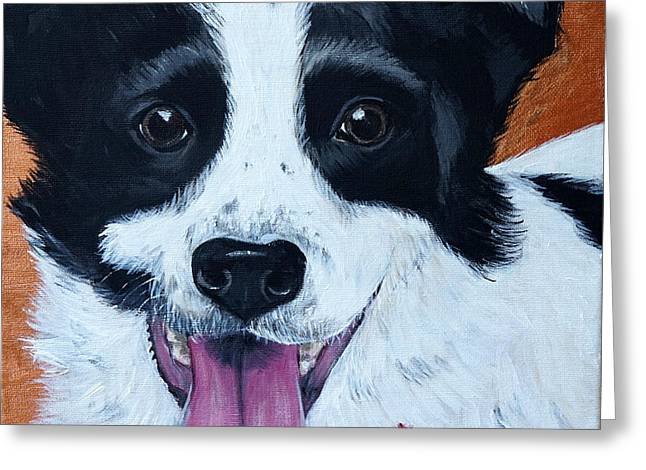Puppies Paintings Greeting Cards - Hula Greeting Card by Kirsten Sneath
