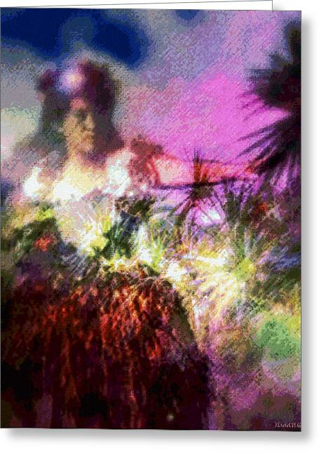 Best Sellers -  - Empower Greeting Cards - Hula Mai Oe Greeting Card by Kenneth Grzesik