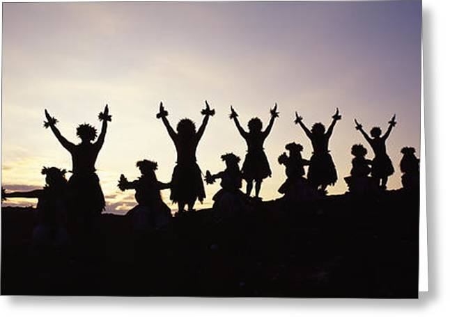 Dress Greeting Cards - Hula on Hillside Greeting Card by Carl Shaneff - Printscapes