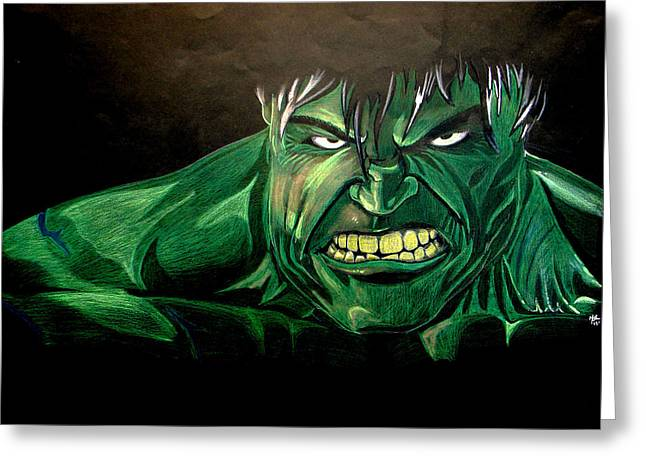 Capt. America Greeting Cards - Hulk Greeting Card by Marcus Quinn