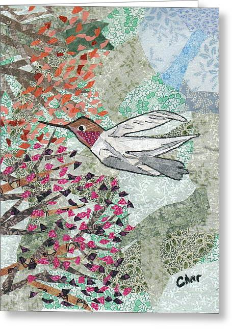 Botanicals Tapestries - Textiles Greeting Cards - Hum for Supper Greeting Card by Charlene White