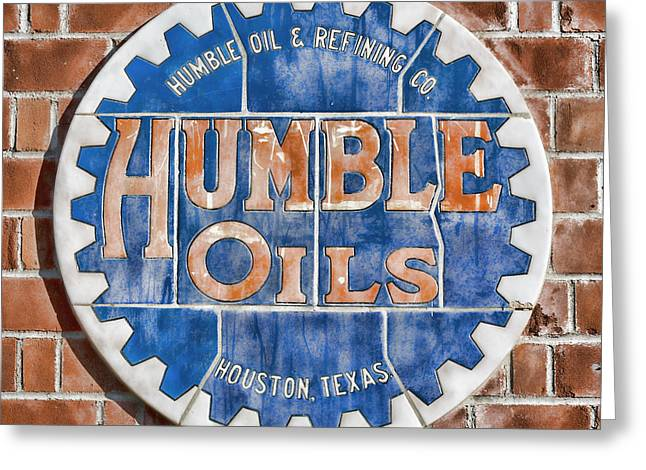Humble Oils Greeting Card by Stephen Stookey