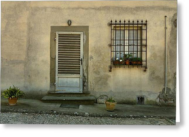 Screen Doors Greeting Cards - Humble Greeting Card by Patricia Strand