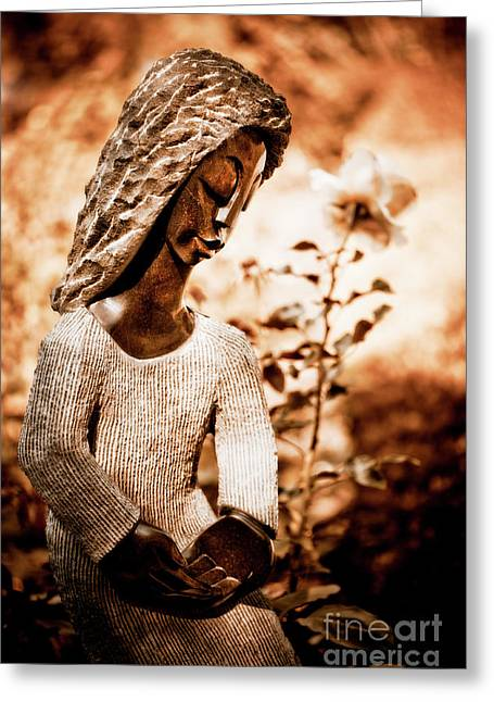 Botanical Figures Greeting Cards - Humble Woman Greeting Card by Venetta Archer