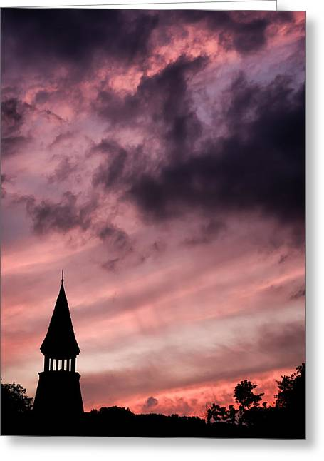 Catonsville Greeting Cards - Humid Oella Sunset Greeting Card by Geoffrey Baker