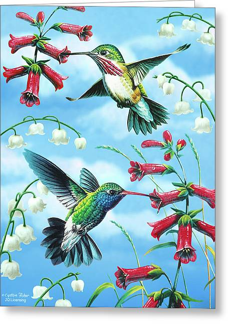Hummingbirds Greeting Cards - Humming Birds Greeting Card by JQ Licensing
