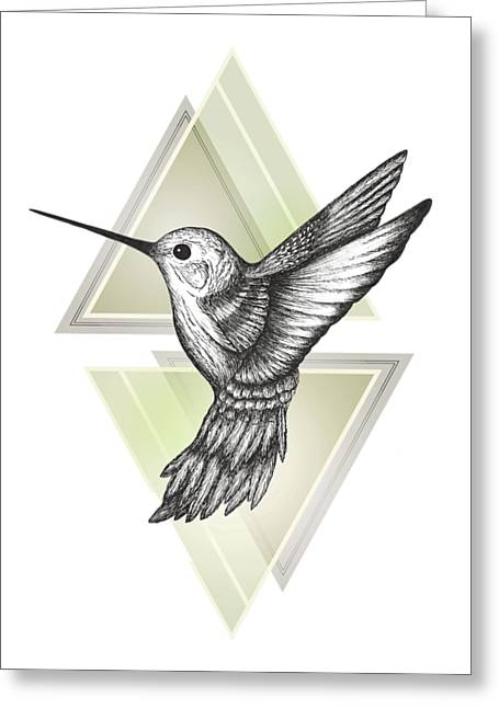 Hummingbird Greeting Card by Barlena