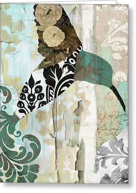 Hummingbird Wall Art Greeting Cards - Hummingbird Batik II Greeting Card by Mindy Sommers