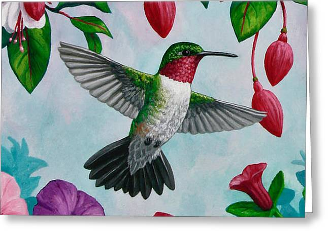 Bird In Flight Greeting Cards - Hummingbird Phone Case H Greeting Card by Crista Forest