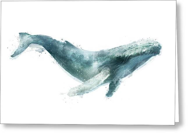 Humpback Whale Greeting Card by Amy Hamilton