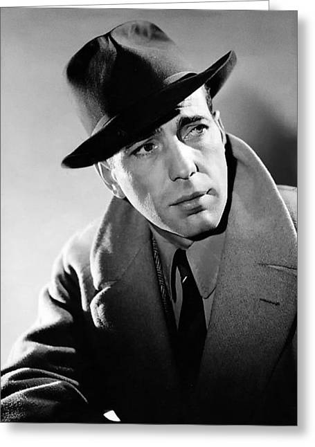 Beloved Greeting Cards - Humphrey Bogart Greeting Card by Mountain Dreams
